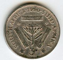 Afrique Du Sud South Africa 3 Pence 1950 Argent KM 35.1 - Afrique Du Sud