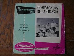 """33 Tours 25 Cm - LES COMPAGNONS DE LA CHANSONS   -  COLUMBIA 1063  """" PAUVRE PECHEUR """" + 7 - Autres - Musique Française"""
