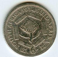 Afrique Du Sud South Africa 6 Pence 1934 Argent KM 16.2 - Afrique Du Sud