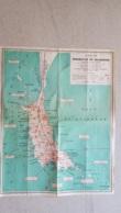 GRANDE CARTE DE LA PRESQU'ILE DE QUIBERON  DRESSEE PAR MAURICE ROBERT PLACHE HOCHE A QUIBERON FORMAT 60 X 47 CM - Cartes Géographiques