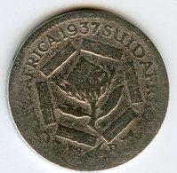 Afrique Du Sud South Africa 6 Pence 1937 Argent KM 27 - Afrique Du Sud