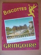 Buvard  Biscottes GRINGOIRE  Pithiviers - Buvards, Protège-cahiers Illustrés