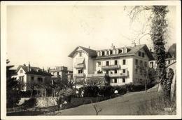 Cp Glion Kanton Waadt, Hotel, Straßenpartie - VD Vaud