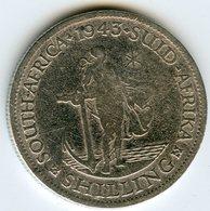 Afrique Du Sud South Africa 1 Shilling 1943 Argent KM 28 - Afrique Du Sud