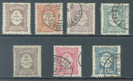 PORTUGAL  - 1904 -  USED/OBLIT. - 5 AND 40 REIS ARE MLH/*  - Yv 7-13 Lot 21383 - PRICE OF USED - Port Dû (Taxe)