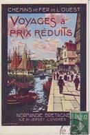 CPAG - CHEMINS DE FER DE L'OUEST NORMANDIE BRETAGNE - VOYAGES A PRIX REDUITS - Publicité