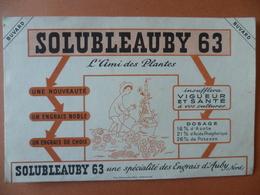 Buvard  SOLUBLEAUBY 63  Engrais D'auby - Buvards, Protège-cahiers Illustrés