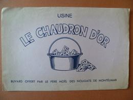 Buvard  Le Chaudron D'or  NOUGAT DE MONTELIMAR - Buvards, Protège-cahiers Illustrés