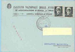 REGNO 383 - Cartolina Privata, Viagg. Nel 1941 Da Pesaro A Mercatino Marecchia - Storia Postale