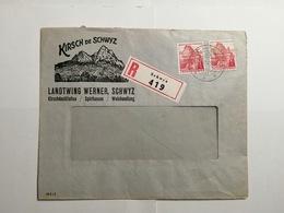 Umschlag 1942 Kirsch De Schwyz - Suisse