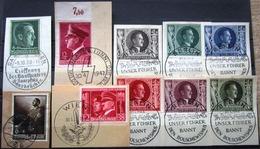 DR Hitler Mi.Nr. 672,701,763,813,844-849 Auf Briefstücken Mit SST/Tagesstempel - Non Classificati