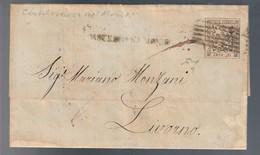 Castelnovo Nè Monti 29 03 1859 Lettera Affrancata Con 25 CENT MODENA STEMMA DEGLI ESTENSI COD Bu.324 - Modena