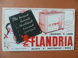 Buvard  Machine A Laver FLANDRIA A WATTRELOS - Buvards, Protège-cahiers Illustrés