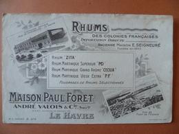 Buvard  RHUM Des Colonies Françaises Maison Paul FORET  LE-HAVRE - Buvards, Protège-cahiers Illustrés