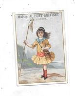 11490 - Chromo Maison HUET GOFFINET, LUXEMBOURG : A La Gerbe D'Or, Grand Choix De Chapeaux Garnis - Autres