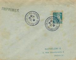 1942- Enveloppe Affr. 50 C Mercure Oblit. EXPOSITION ANTIBOLCHEVIQUE / LILLE - Marcophilie (Lettres)