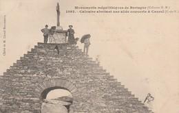 MONUMENTS MEGALITHIQUES DE BRETAGNE CALVAIRE ABRITANT UNE ALLEE COUVERTE A CAUREL - Caurel