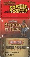 Lot De 3 Cartes : Gold Strike Casino : Jean NV - Casinokarten