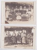 Front Des Balkans Grande Guerre Macédoine Femmes Des Marais De La Cerna Carte-photo Lot 2 Cartes Postales WW1 Macedonia - Macédoine