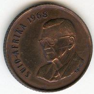Afrique Du Sud South Africa 2 Cents 1968 Président Swart KM 75.2 - Afrique Du Sud