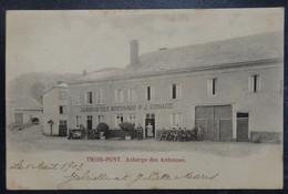 """TROIS PONTS - Auberge Des Ardennes """"J.P. Renard"""" - Circulé - 2 Scans. - Trois-Ponts"""