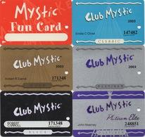 Série De 6 Cartes : Mystic Lake Casino : Prior Lake MN - Casinokarten