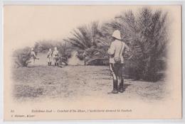 Extrême-Sud Combat D'In-Rhar (Algérie) - L'Artillerie Devant La Casbah Canon Geiser Alger 31 - Altre Città
