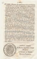 1851 REGNO DELLE DUE SICILIE DECRETO PANNI  FOGGIA - Décrets & Lois