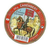 ETIQUETTE De FROMAGE Cartonnée..CAMEMBERT Fabriqué NORMANDIE..Le Chevalier Normand..Lait. De St HILAIRE De BRIOUZE (61) - Cheese