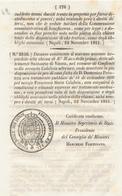 1851 REGNO DELLE DUE SICILIE DECRETO CONFLENTI CALABRIA - Décrets & Lois