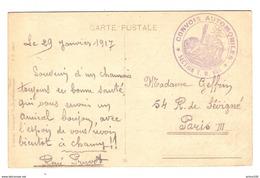 CPA MILITARIA 29/1/1917 SOUVENIR DE SALONIQUE  CONVOIS AUTOMOBILES SECTION T.M. 601 ARMEE D'ORIENT - RENE PRUVOT - Guerre 1914-18