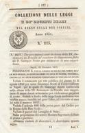 1851 REGNO DELLE DUE SICILIE DECRETO PROCIDA ISOLA DI PROCIDA - Décrets & Lois