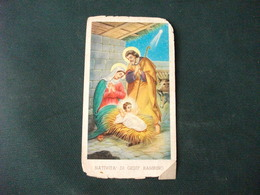 SANTINO HOLY PICTURE IMAIGE SAINTE INNO A GESU' BAMBINO 193 PIEGHE SCIUPATO - Religione & Esoterismo
