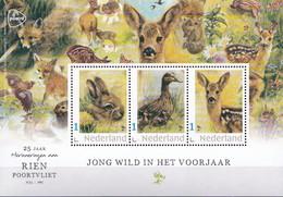 Nederland - Rien Poortvliet - Velletje - Jong Wild In Het Voorjaar - Konijn/eend/hert - MNH - Private Stamps