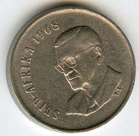 Afrique Du Sud South Africa 5 Cents 1968 Président Swart KM 76.2 - Afrique Du Sud