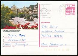 82976) BRD - P 138 - Q2/17 - 4100 OO Gestempelt - 4750 Unna, Marktplatz, Eselsbrunnen - Cartes Postales Illustrées - Oblitérées