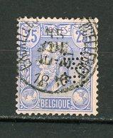"""BELGIQUE  LEOPOLD II N° Yvert 48 Obli & PERFORÉ """"BP"""" - Perfins"""