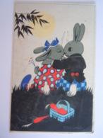 Willy Schermelé 't Was In Mei Kussende Konijnen Lapins Baiser Edit De Muinck 492 Gelopen 1946 Plooitje Hoek - Schermele, Willy