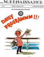 PROGRAMME  Linea C  - D58 - M/s WORLD RENAISSANCE Croisière La Ronde Des Caraibes. 22 Sept. 1979. - Bateaux