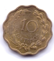 PARAGUAY 1953: 10 Centesimos, KM 25 - Paraguay