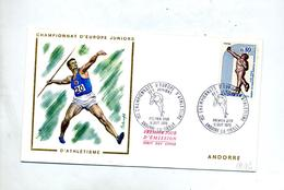 Lettre Fdc 1970 Championnat Athlétisme - FDC