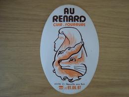 AUTOCOLLANT MAGASIN AU RENARD CUIR ET FOURRURE NEUVILLE AUX BOIS 45 - Stickers
