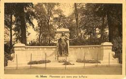 025 419- CPA - Belgique - Mons - Monument Aux Morts Pour La Patrie - Mons