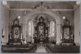 Gaggenau Bad Rotenfels - S/w Inneres Der Kirche - Gaggenau