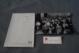 Superbe Grande Photo Ancienne De Coiffeurs,coiffeuses,Atelier L'Oréal J.E.T. 1964 + Menu ,Coiffure,collection - Personnes Identifiées