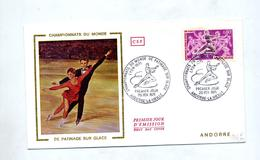 Lettre Fdc 1971 Championnat Monde Patinage - FDC