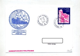 Lettre  Cachet Brest Sous-marin + Sous-marin Ouessant - Postmark Collection (Covers)