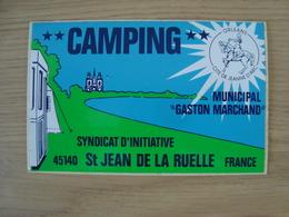 AUTOCOLLANT CAMPING MUNICIPAL GASTON MARCHAND SAINT JEAN DE LA RUELLE 45 - Stickers