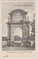 Cartolina - Un Saluto Da Alessandria - Arco Trionfale In Piazza D'Armi Vecchia - Alessandria