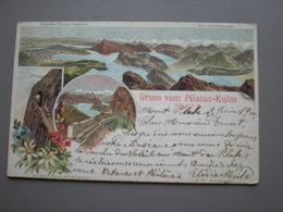 NIDWALDEN - PILATUS-KULM - HOTEL - G. STEINMANN - LITHO 1900 - NW Nidwalden